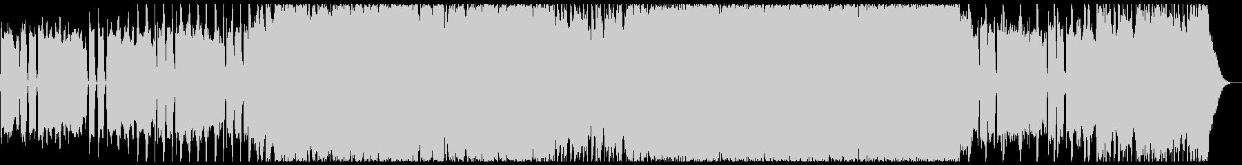 攻撃的で激しいヘビーなロック-60秒の未再生の波形