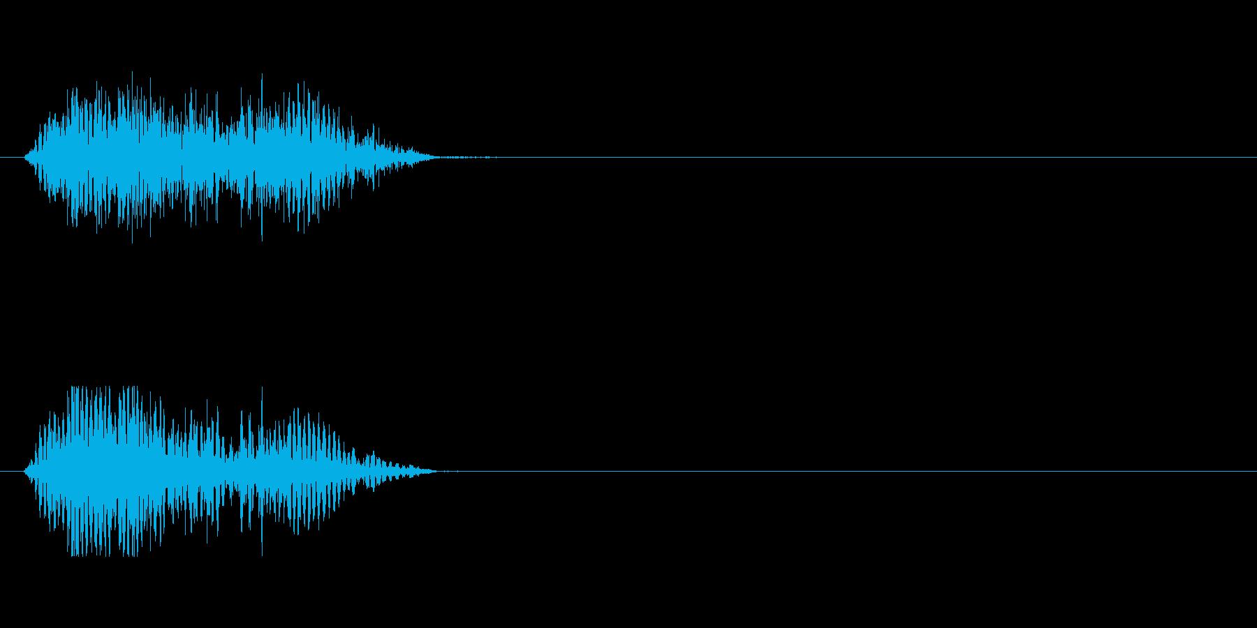 ゾンビのうめき声の再生済みの波形