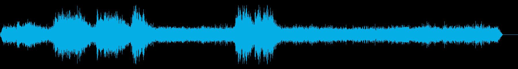 プラットフォームの近くのプラットフ...の再生済みの波形