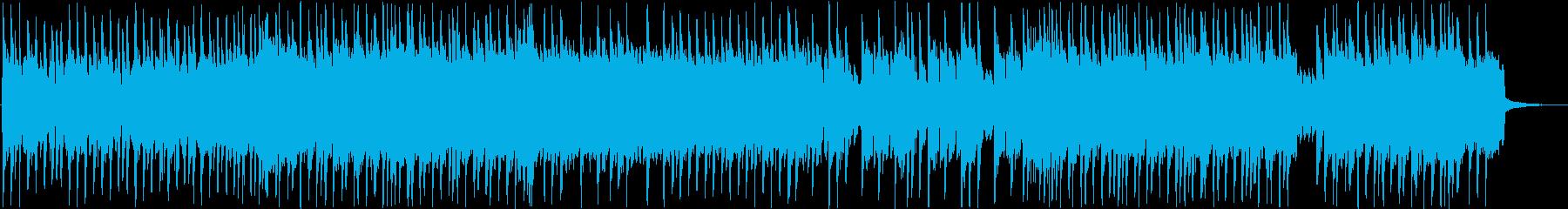 リズムのテンポが心地いいロックの再生済みの波形