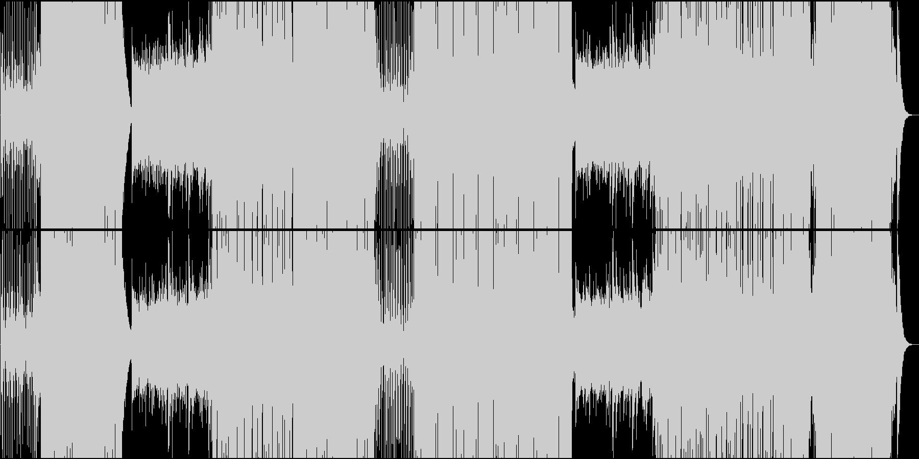 ゆったり明るいトロピカル系楽曲の未再生の波形