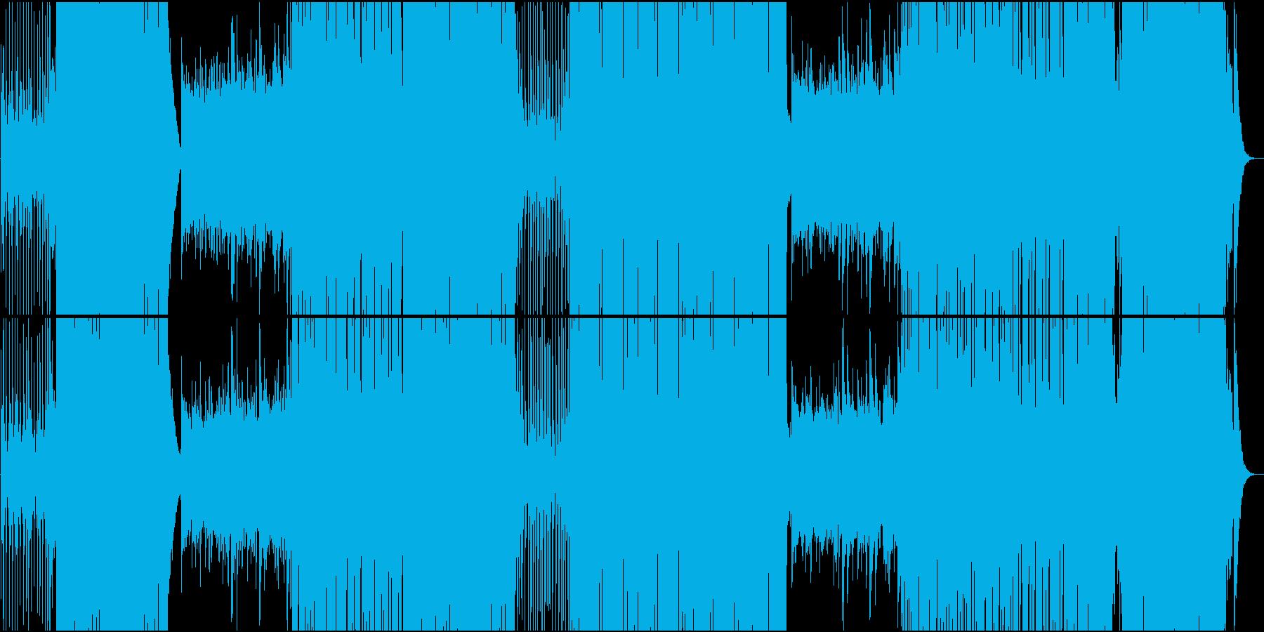 ゆったり明るいトロピカル系楽曲の再生済みの波形