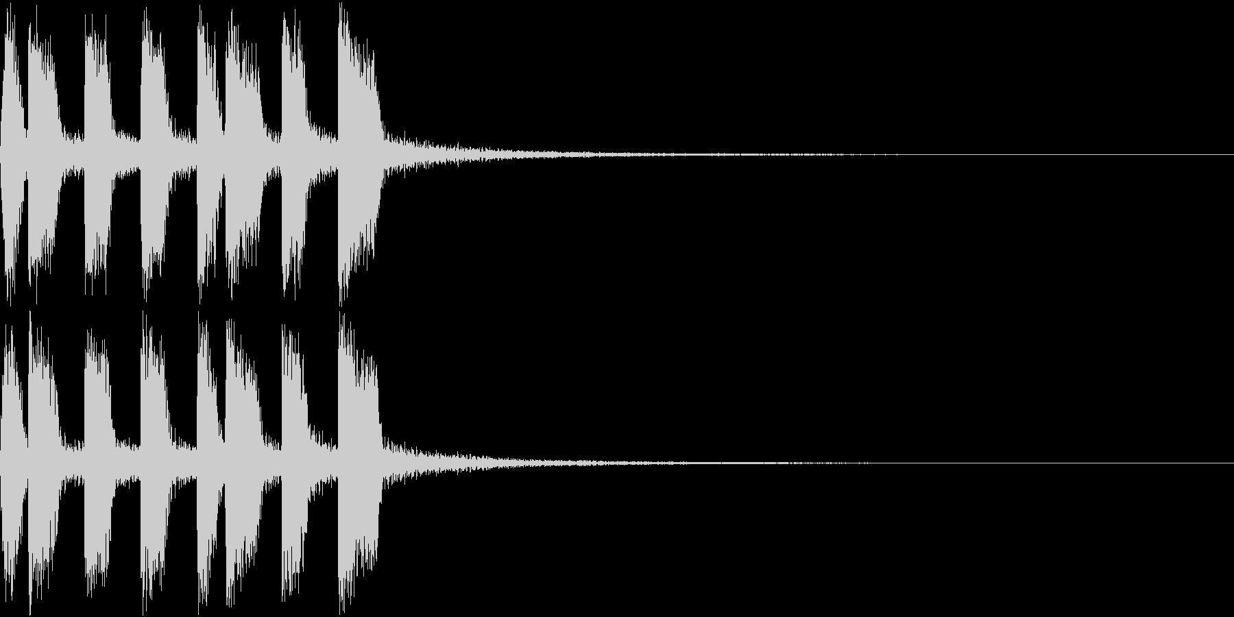 アイテム ファンファーレ ゲット音 2の未再生の波形