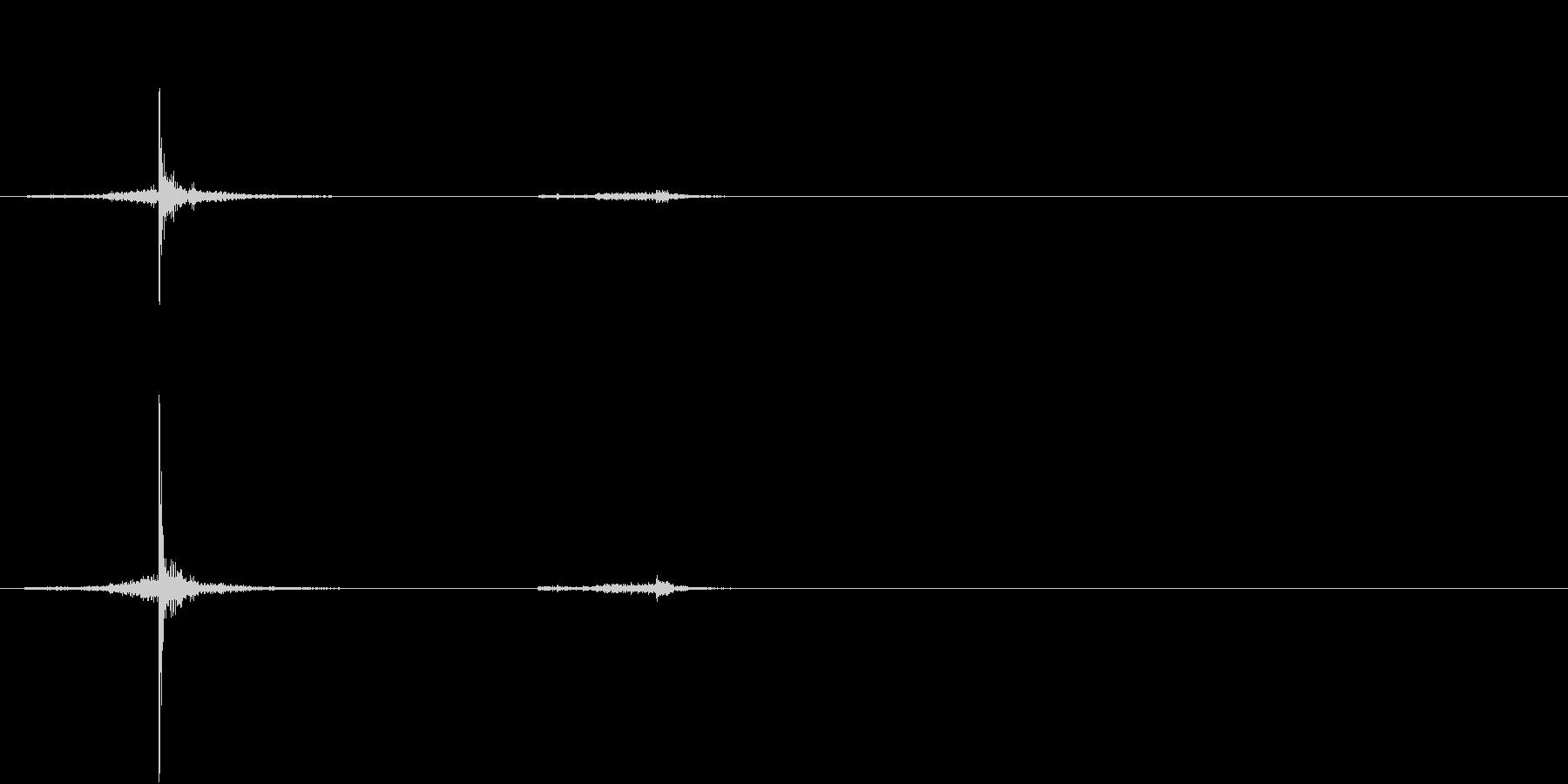 【生録音】ハサミの音 美容室 カット 1の未再生の波形