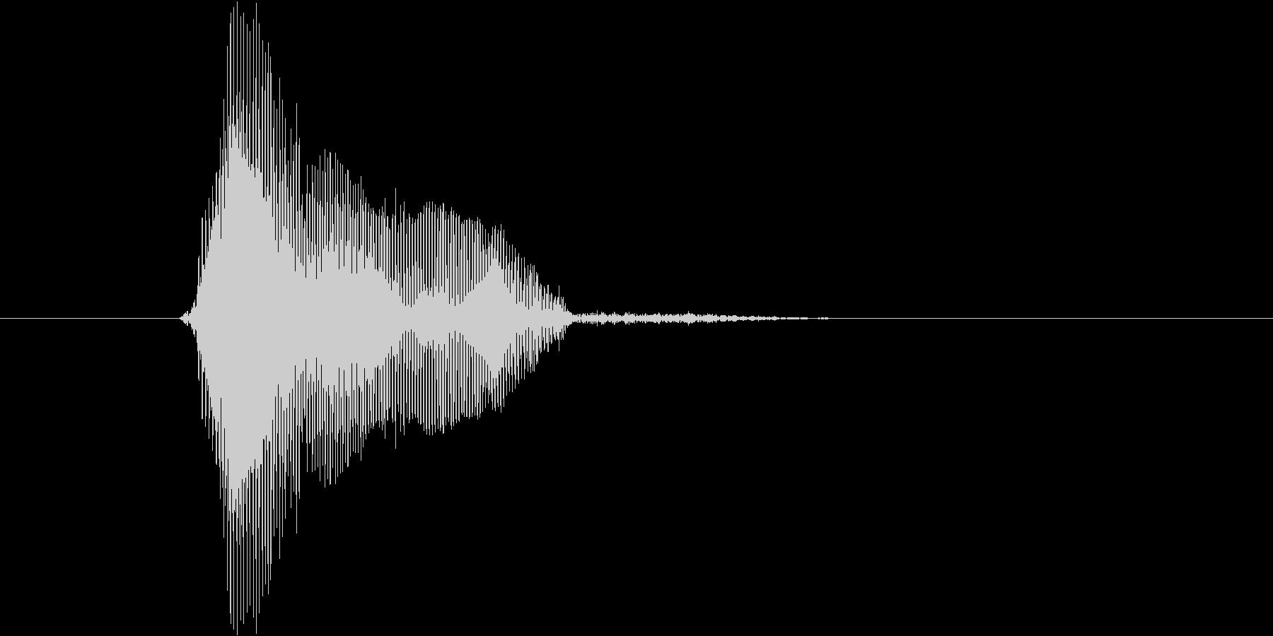 ボール(高音)の未再生の波形