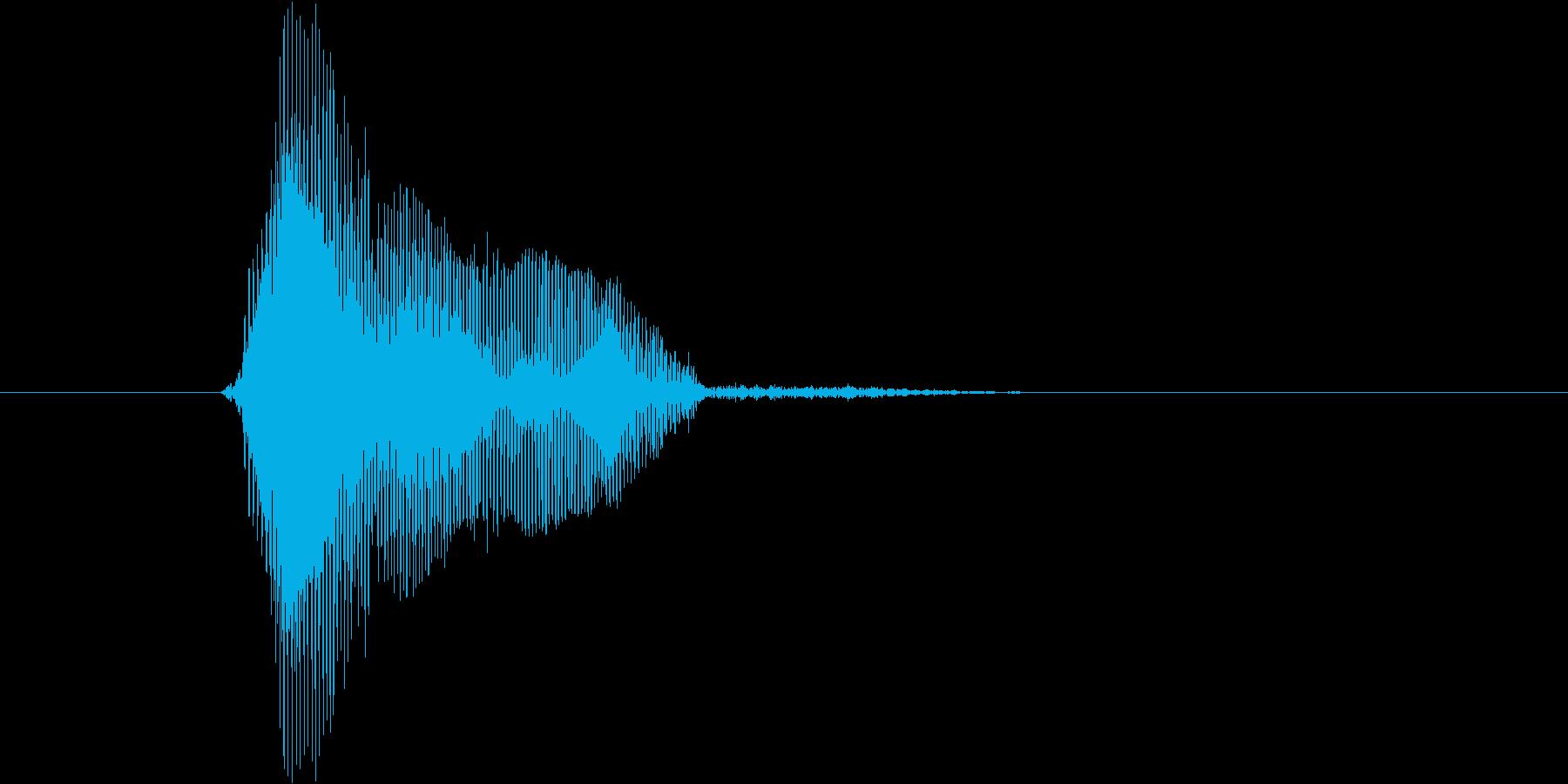 ボール(高音)の再生済みの波形