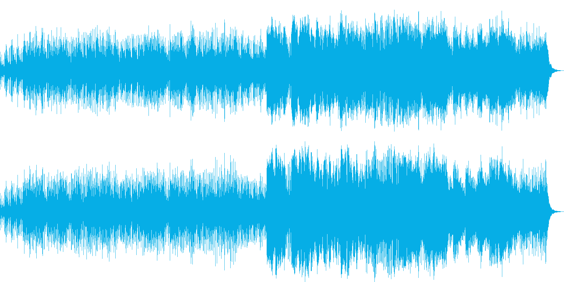 宇宙の膨張説をイメージしたシンセサイザの再生済みの波形