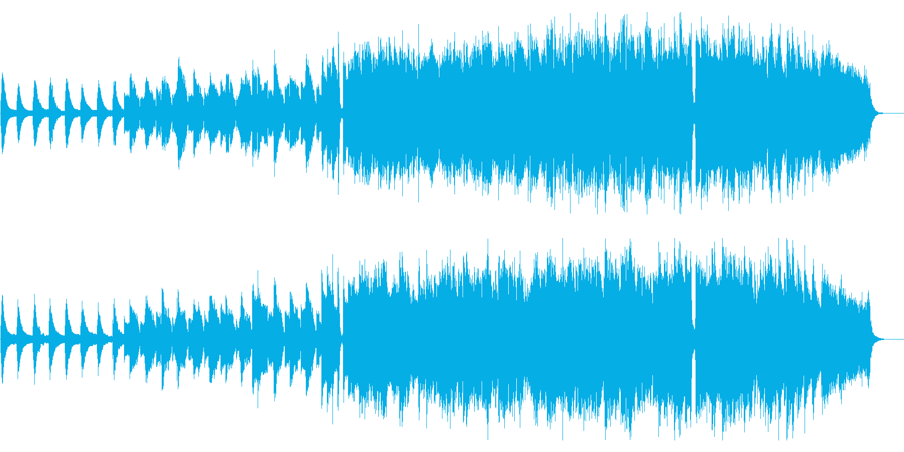 サックスが旋律を奏でるインスト曲の再生済みの波形