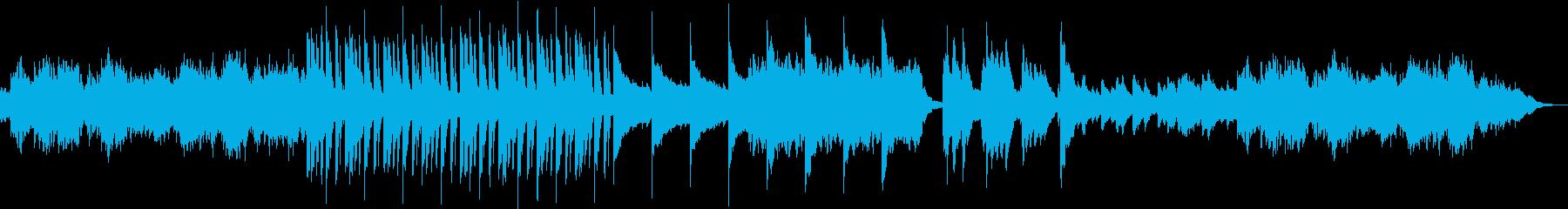 厳かな和風オーケストラの再生済みの波形