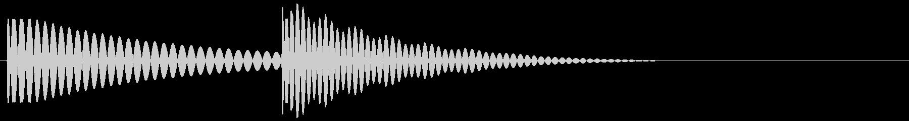 ポコン(ボタン音・プッシュ音)の未再生の波形