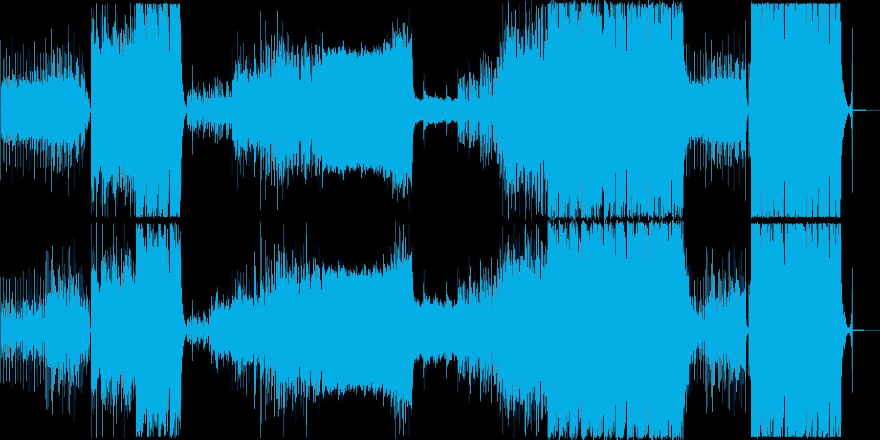 ダイジェスト映像に最適な明るくポップな曲の再生済みの波形