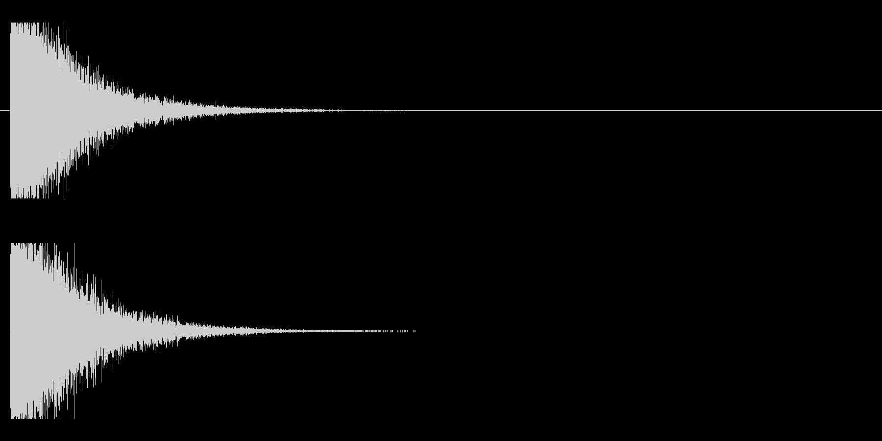 レーザー音-137-1の未再生の波形