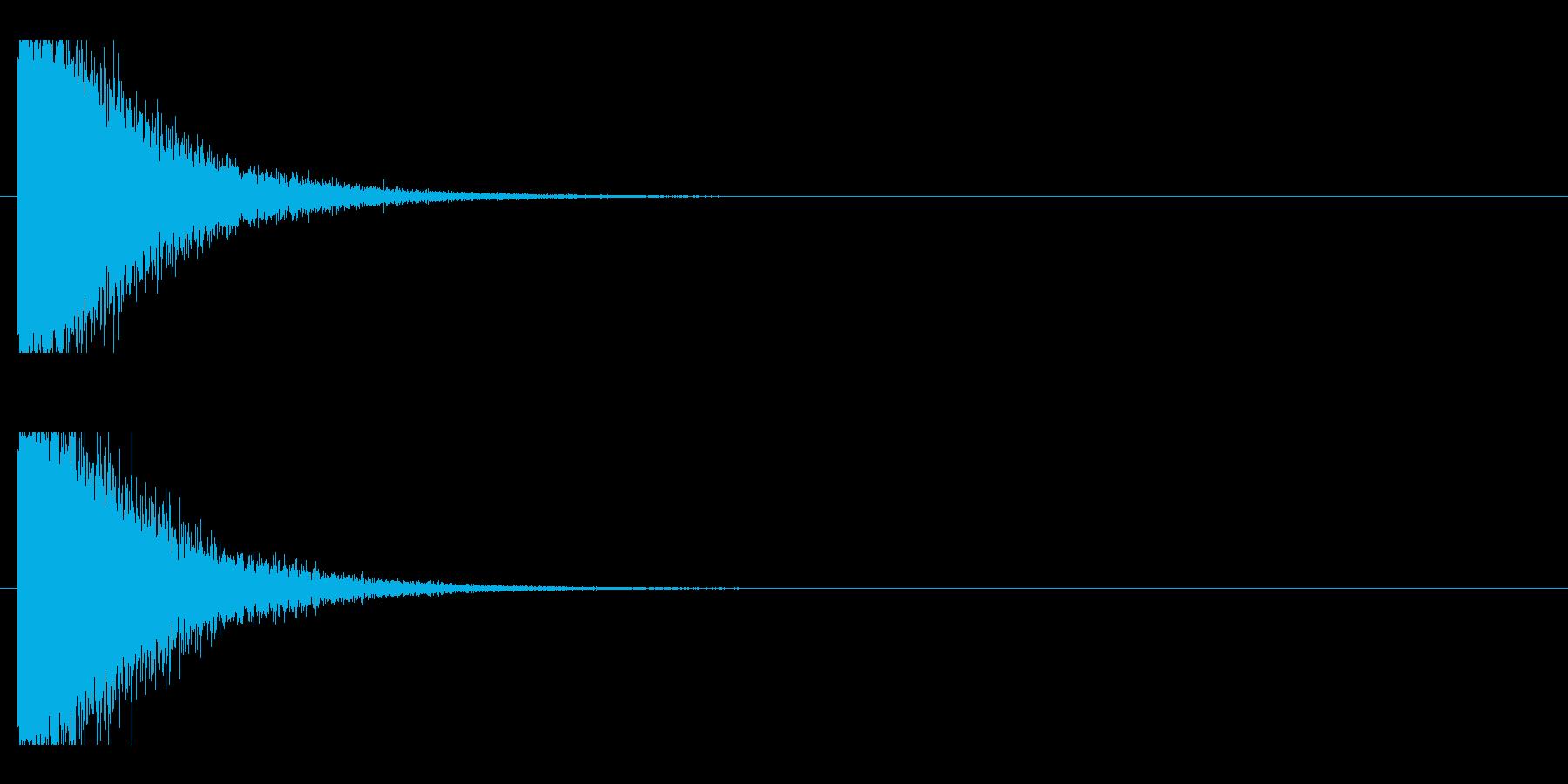 レーザー音-137-1の再生済みの波形