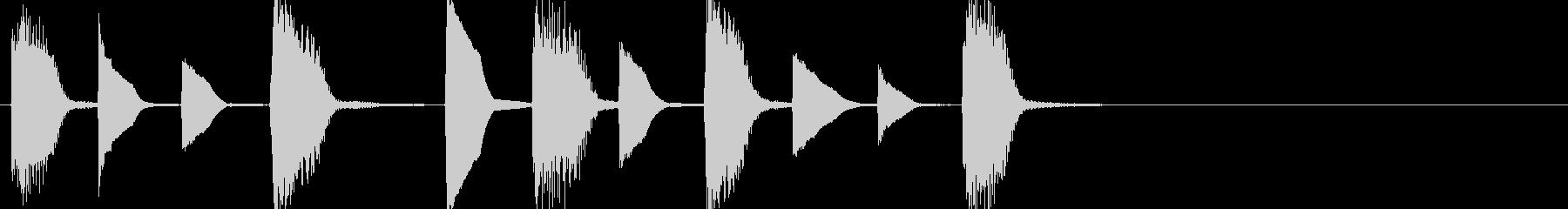 ほのぼの系ピアノジングルの未再生の波形