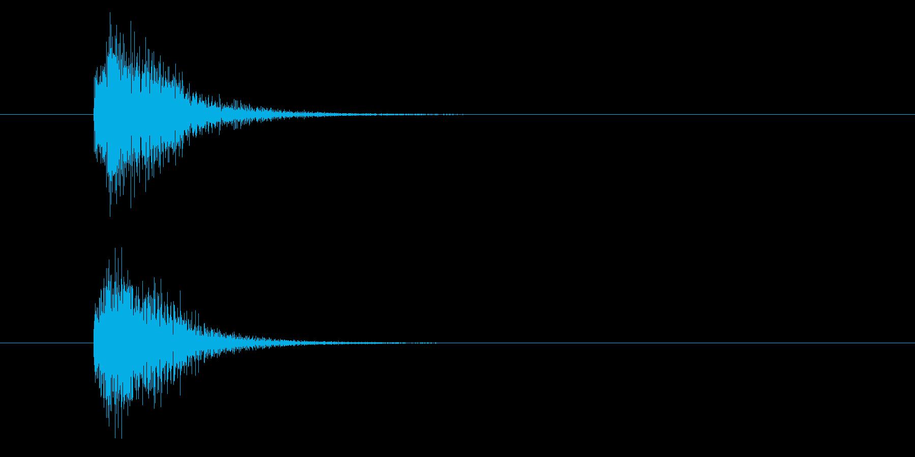 ジャン!豪華なオケヒその2の再生済みの波形
