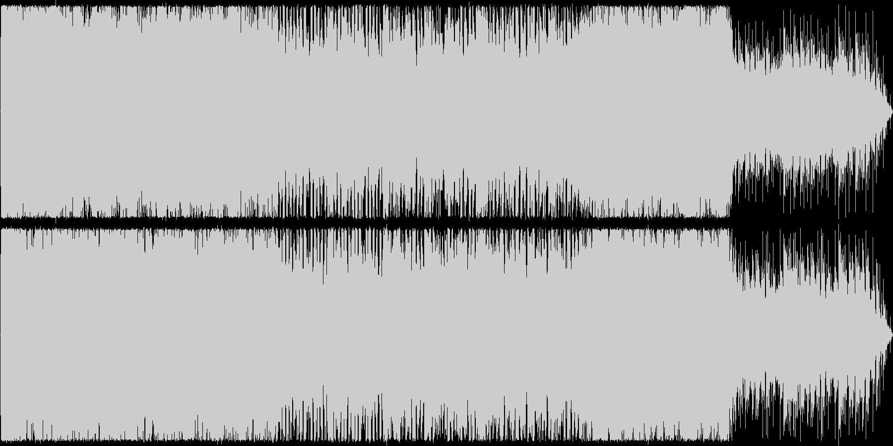 オルガンが中心のホラーの未再生の波形