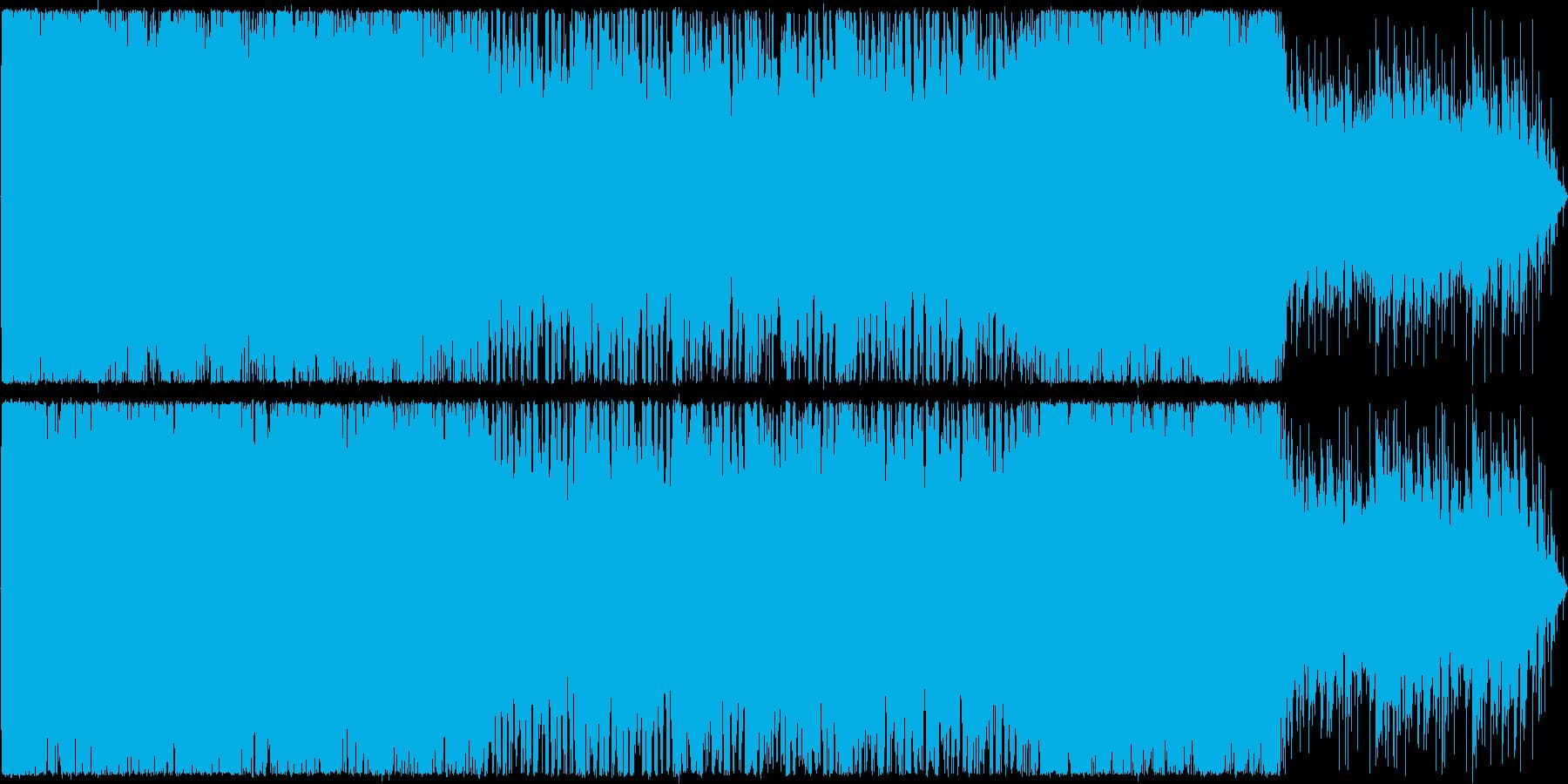 オルガンが中心のホラーの再生済みの波形