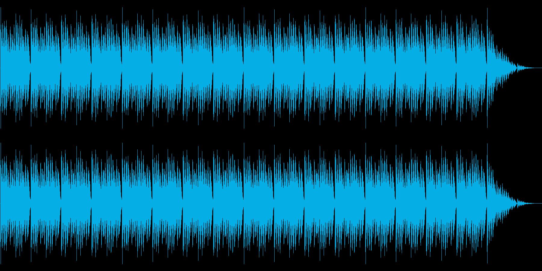 GB風RPGのダンジョン曲の再生済みの波形