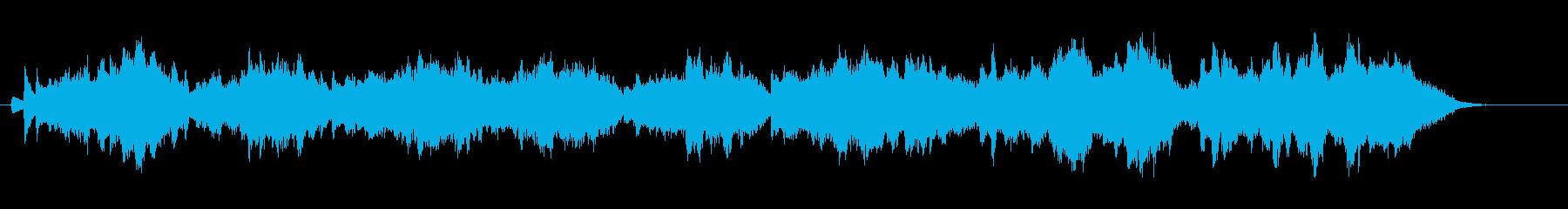 オペラ風ストリングス&ハープ伴奏の再生済みの波形
