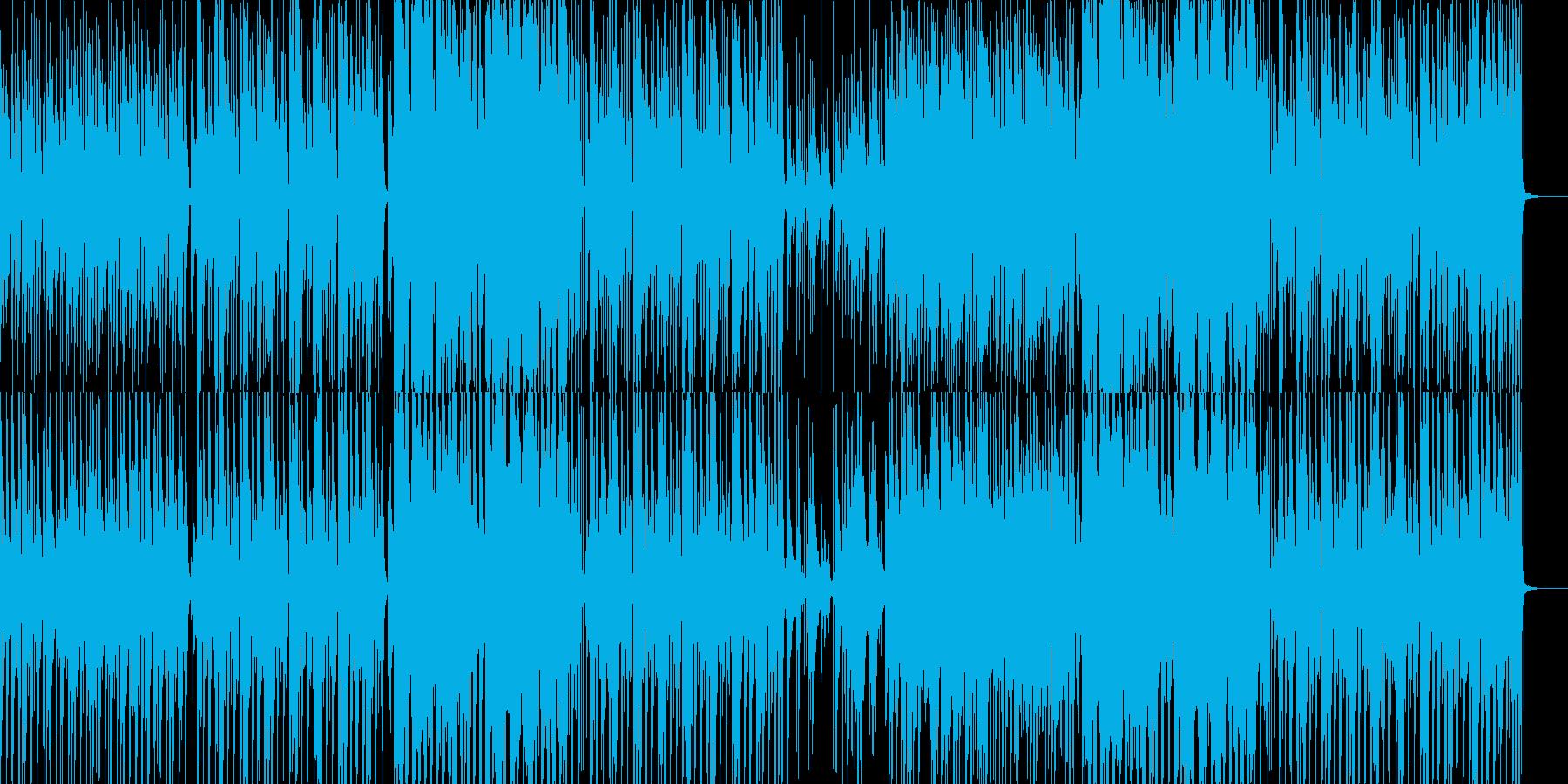 ピアノとエレキと笛のインフォグラフィックの再生済みの波形