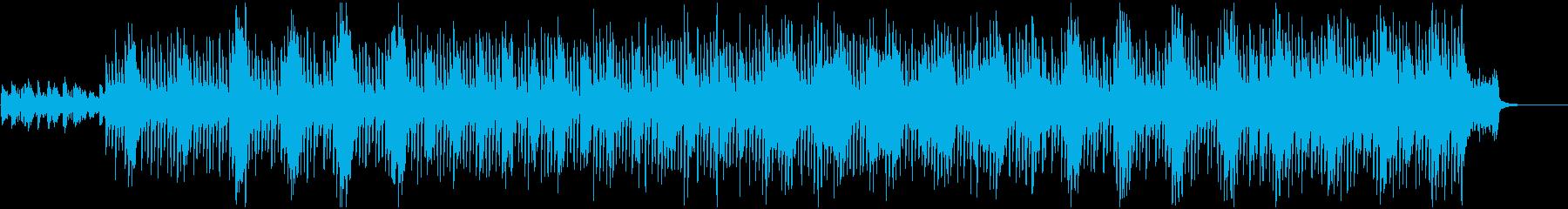 SF感のある宇宙的BGMの再生済みの波形