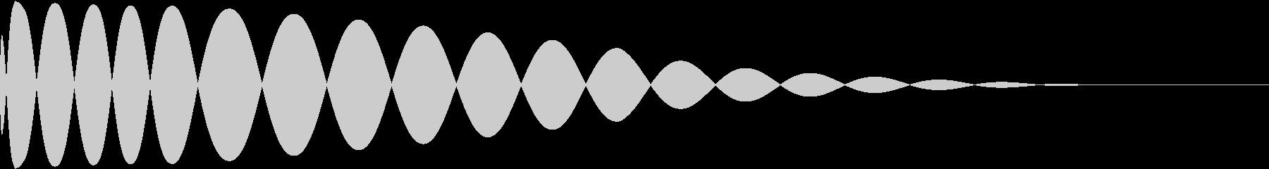 DTM Kick 11 オリジナル音源の未再生の波形