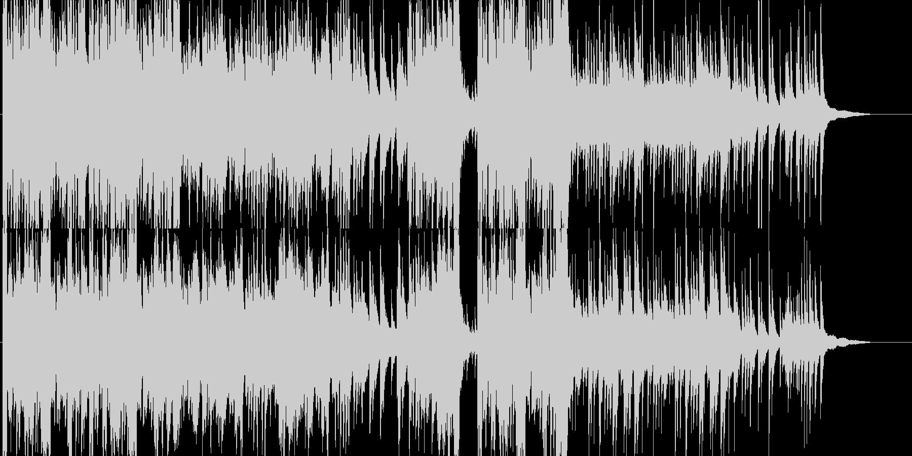 ピアノとストリングスが印象的な希望の曲の未再生の波形