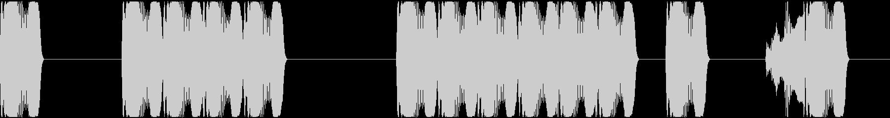 ピコピコとパソコン操作する動作の効果音の未再生の波形
