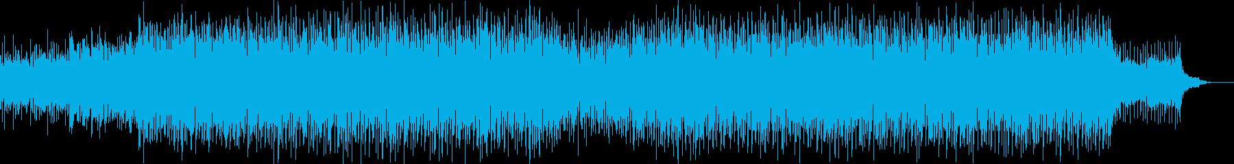 ディストピア近未来エレクトロミュージックの再生済みの波形