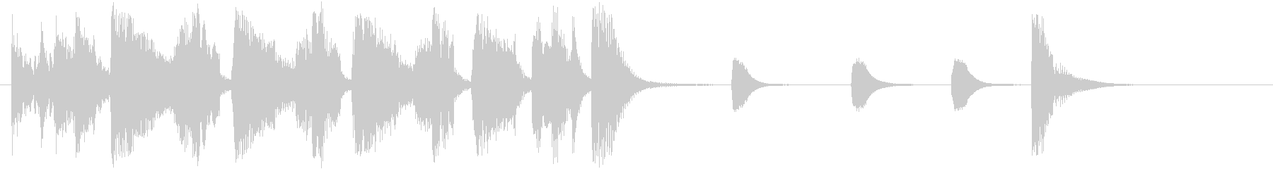 JAZZ風の軽快なジングル2の未再生の波形
