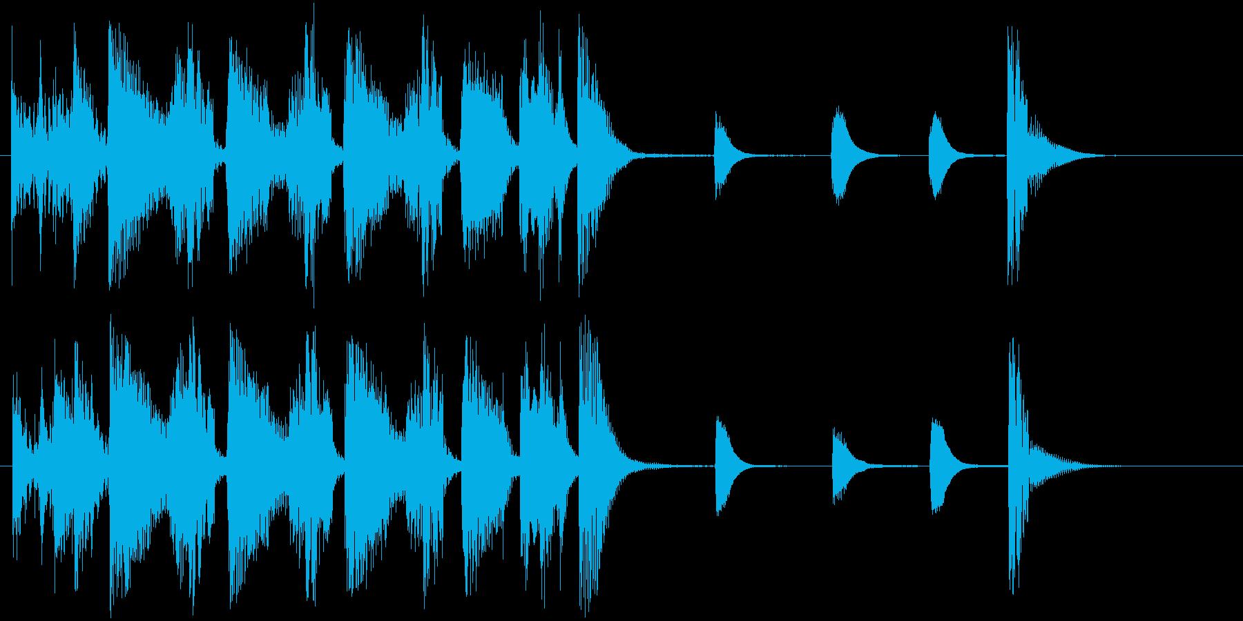 JAZZ風の軽快なジングル2の再生済みの波形
