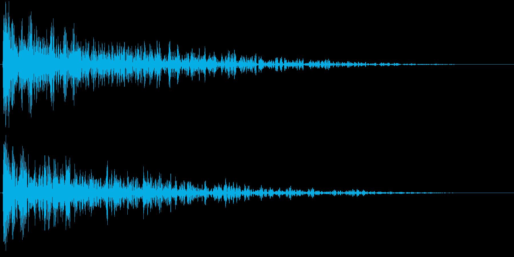 ドーン!(重いインパクト音・ロゴ表示等)の再生済みの波形