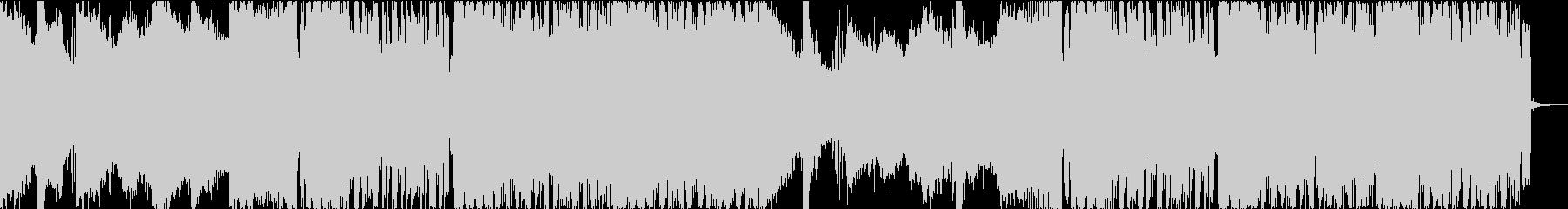 ダークで激しくゴリゴリなグリッチホップの未再生の波形
