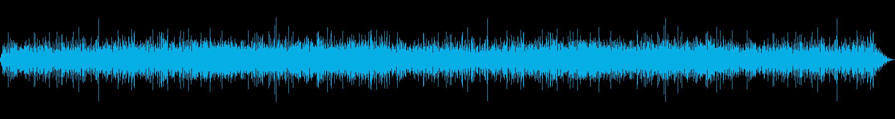 雨の降っている時の癒し環境音01-2の再生済みの波形