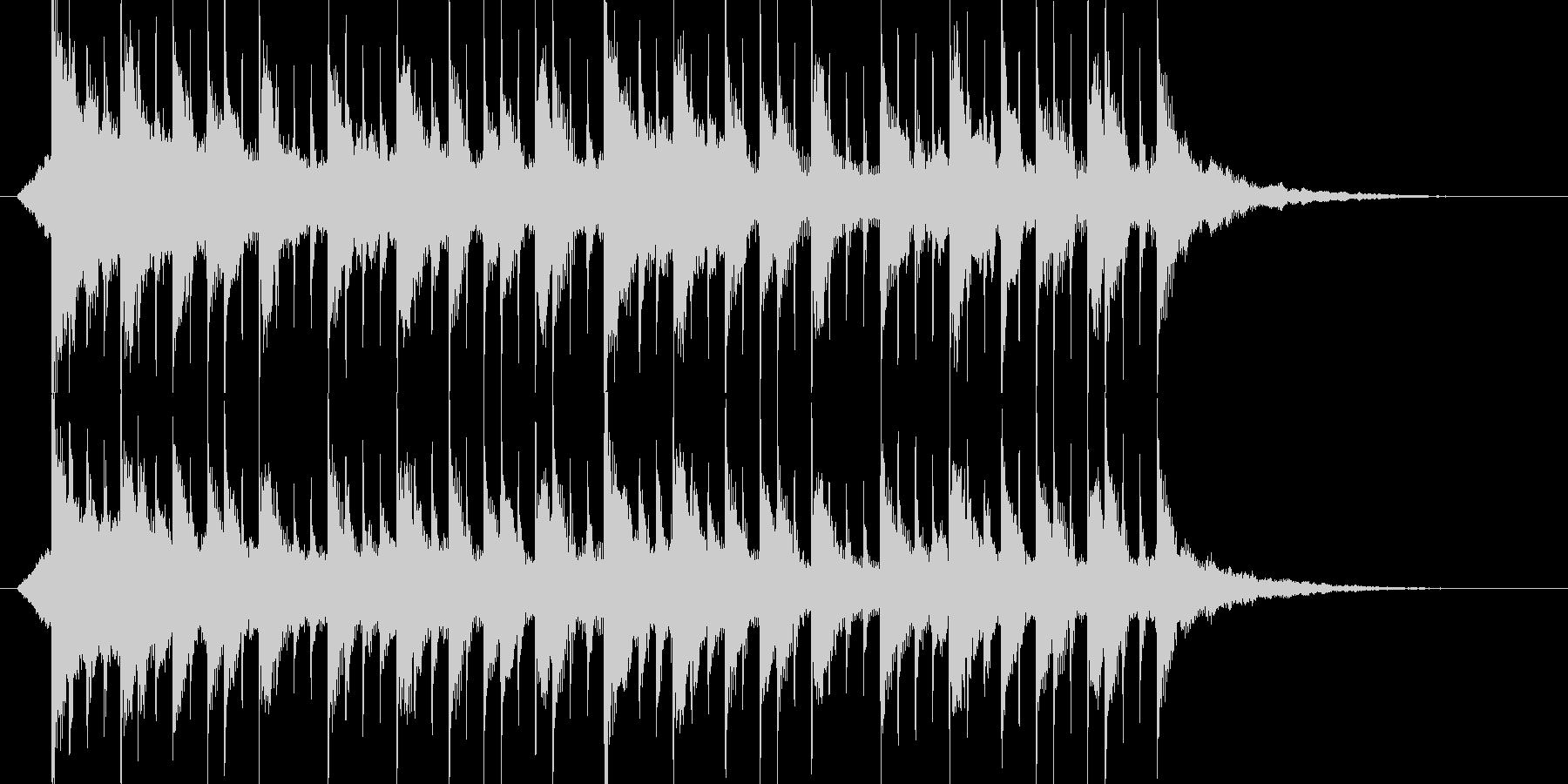 ミステリアス、ジングル、サウンドロゴの未再生の波形