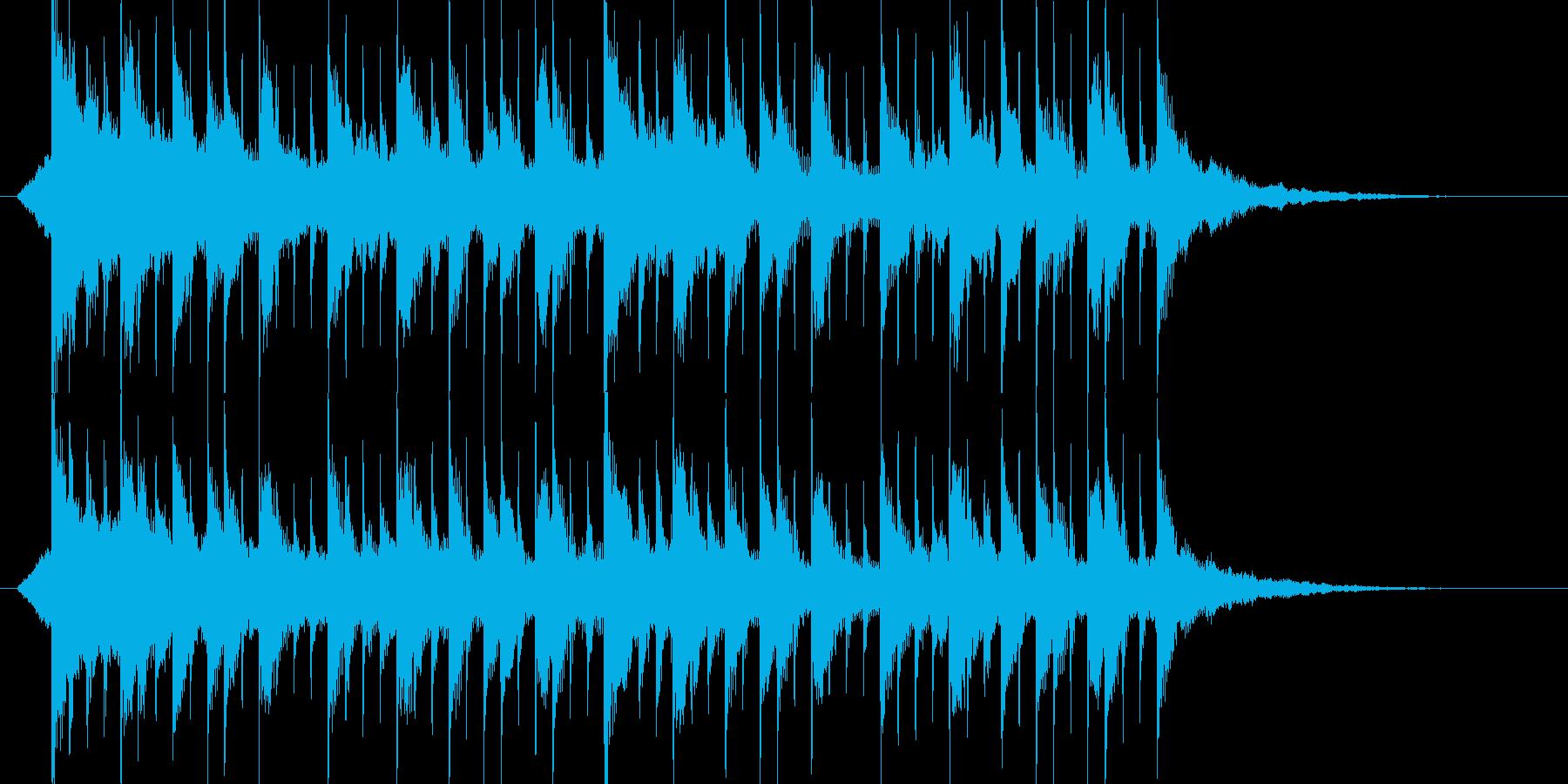 ミステリアス、ジングル、サウンドロゴの再生済みの波形