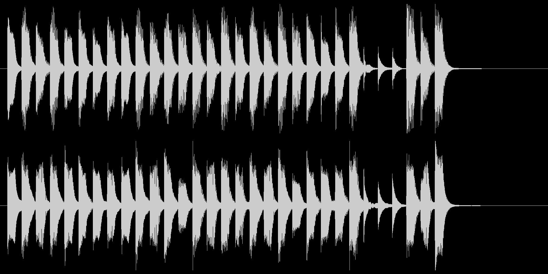ピアノと木琴による絵本の世界の未再生の波形