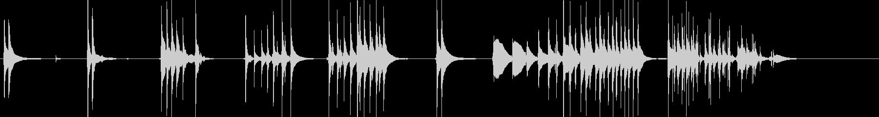 三味線76鷺娘8羽ばたき生音歌舞伎妖怪鷺の未再生の波形