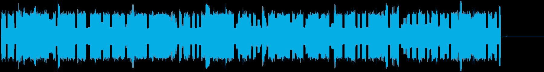ロボット風の電子音の再生済みの波形