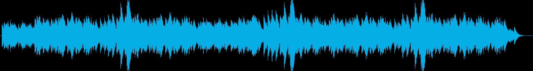 心地よい音色のヒーリングミュージックの再生済みの波形