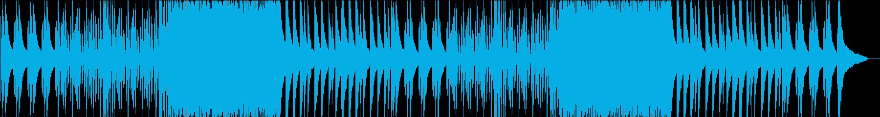 お洒落でジャジーなピアノBGMの再生済みの波形