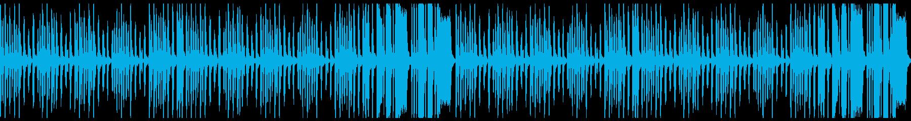 ほのぼのイメージのBGMループの再生済みの波形