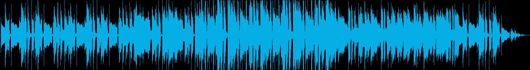 生アコギとエレピのほのぼのおしゃれ曲の再生済みの波形