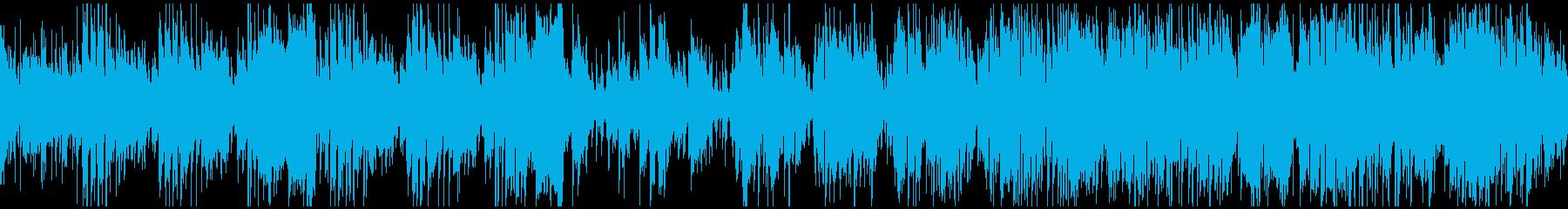 悪役登場シーンのブルースジャズ※ループ版の再生済みの波形