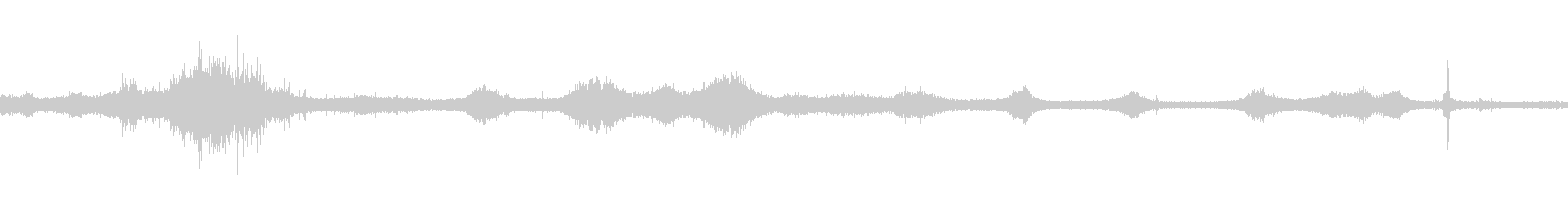 【生音】雷雨19 - 雨と雷と通行音の未再生の波形
