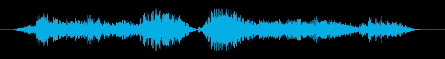「接続が解除されました」の再生済みの波形