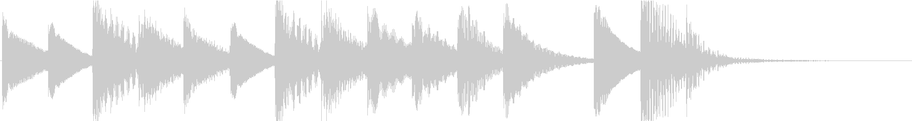 マリンバのほのぼのとしたジングル3の未再生の波形