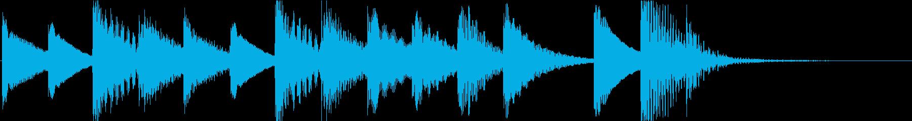 マリンバのほのぼのとしたジングル3の再生済みの波形