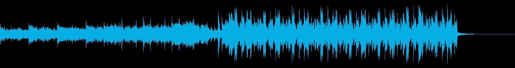 シンセが全面に出てる少し切ない四つ打ちの再生済みの波形