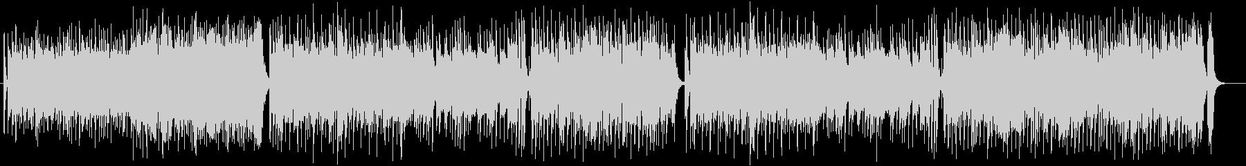躍動感のあるテクノポップスの未再生の波形
